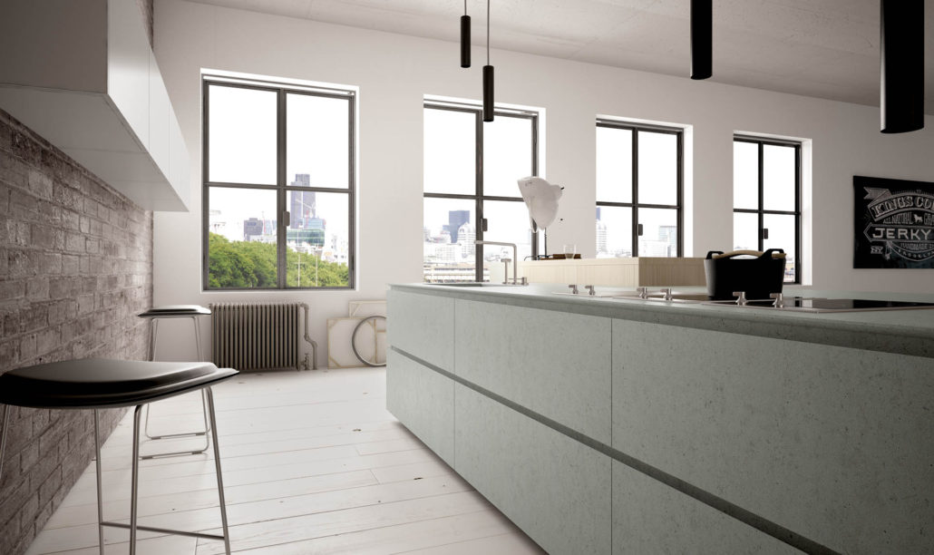 Cucina con piano e ante in resina vari colori cucinemoderne