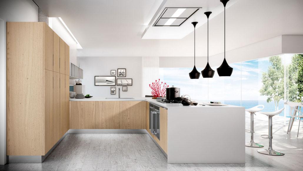 Trendy la cucina ad angolo a l per te che hai bisogno di - Cucine moderne bicolore ...