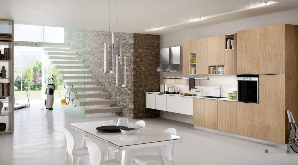 cucina bianca per ambiente moderno e sempre attuale - CucineModerne