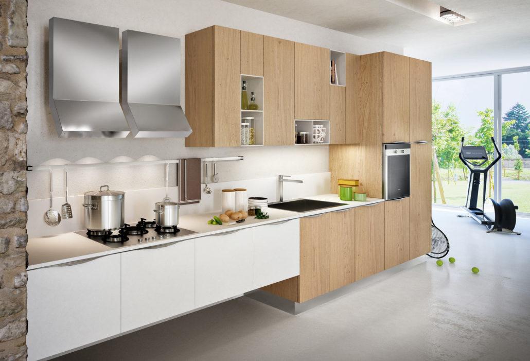 Cucina Bicolore Rovere Sistema 901 : Cucine bicolore moderne