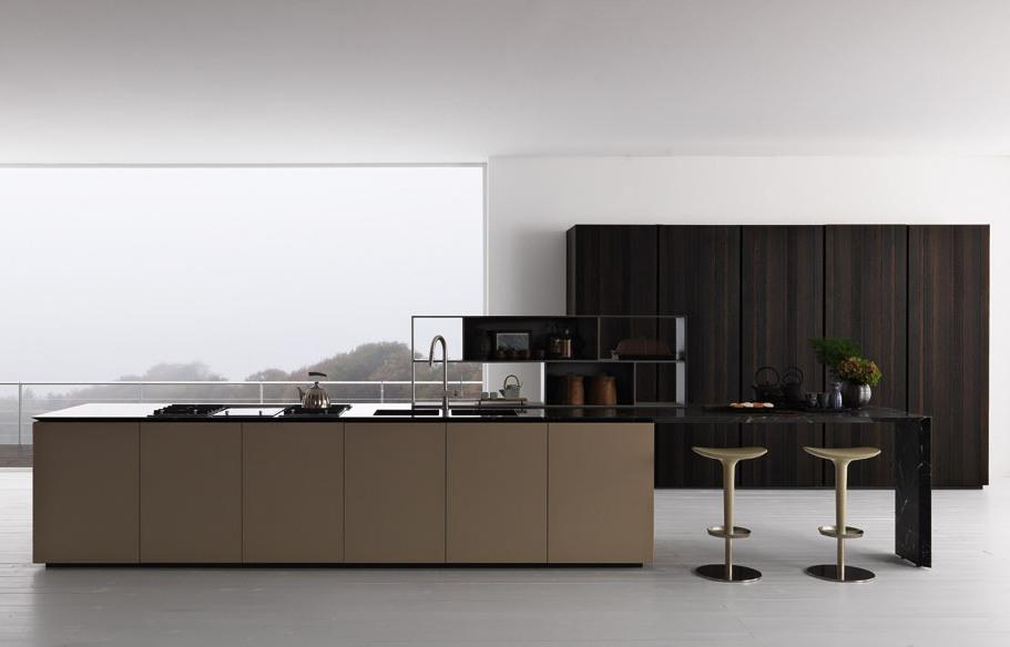 Cucine moderne legno scuro termocotto for Cucine moderne scure