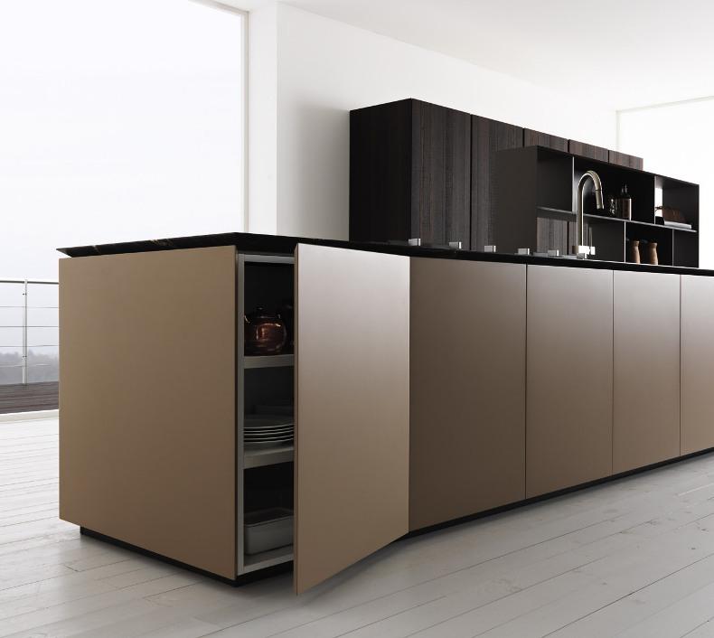 Cucine moderne legno scuro termocotto - Cucine moderne in legno naturale ...