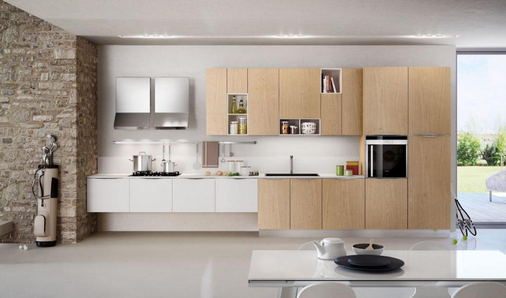 Cucina grigia moderna cucinemoderne - Cucine moderne in legno naturale ...